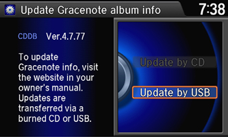 Gracenote® Install Step 3