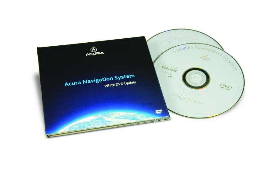 The Official Acura Map Update Site RL White DVD Map - 2005 acura tl navigation update