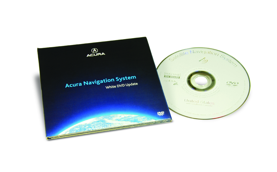 The Official Acura Map Update Site RL White DVD Map - Acura navigation dvd