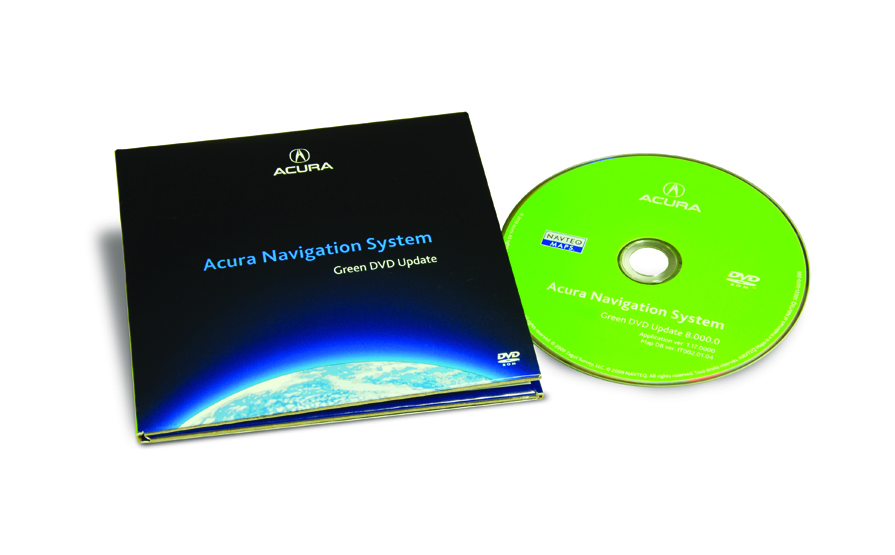 The Official Acura Map Update Site MDX Green DVD Map - Acura navigation dvd